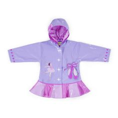 Irresistible and eye-catching, these stylish, upscale coats are the core of a Kidorable ensemble. Ballet all-weather raincoat for your little girl. It is more than just a raincoat, it can be worn every day, all spring, summer and fall. Featuring an enchan