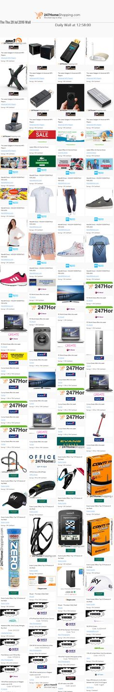 Our Savings for the 28/07/2016 at 12:59    Unmissable Deals on the 247homeshopping SUPER SAVER WALL!    http://www.247homeshopping.com/28-07-2016.htm?smm=pintwall28-07-2016-pFB1