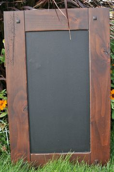 Kitchen: Cabinet Door Ideas - Alder Cabinet Door Chalkboard W/ Distressed Look. $24.95, via Etsy.