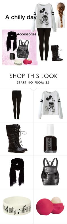 """""""A chilly day to school!"""" by somegirlnamedriaa ❤ liked on Polyvore featuring Topshop, Essie, Faliero Sarti, Alexander Wang, Music Notes and Eos"""