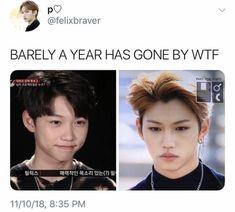 Felix is so cute Funny Kpop Memes, Kid Memes, K Pop, Bts Namjoon, Def Not, Korean Boy, Felix Stray Kids, Crazy Kids, Survival