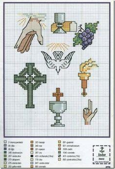 imagen religiosas en punto de cruz: