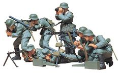 buy now German Machine Gun Troops Assembly kit Scale = __________________________ Special Details At about the middle of the the German Army organised offensive . Mg 34, Plastic Model Kits, Plastic Models, Light Machine Gun, Machine Guns, Monster Hotel, Hobbies For Adults, Tamiya Models, German Uniforms