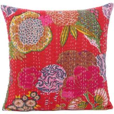Tropicana Pillowcase 40x40 Red, 15€,  by Eyes Of India !!
