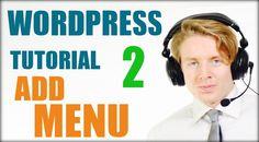 Wordpress tutorial step by step 2016 (Part 2) - Add menu