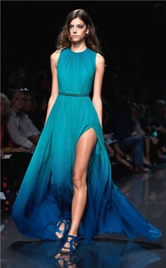 blue fashion dress chiffon prom dress