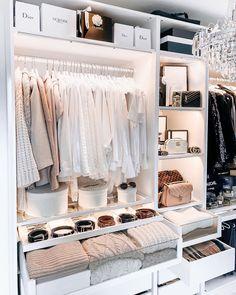 𝐕𝐄𝐑𝐄𝐍𝐀 | Fashion Blogger on Instagram #closet #pax #ankleidezimmer #kleiderschrank #ikeapax #wardrobe #dressingroom #walkincloset Bedroom Closet Design, Room Ideas Bedroom, Closet Designs, Home Room Design, Bedroom Decor, Wardrobe Room, Dressing Room Design, Ikea Dressing Room, Dream Rooms