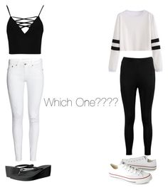"""""""Please comment witch one you like"""" by vanillabean224 ❤ liked on Polyvore featuring Boohoo, Converse and Havaianas"""