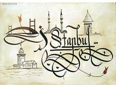 turkish calligraphy - Sites new Calligraphy Fonts, Islamic Calligraphy, Caligraphy, Lettering, Turkish Art, Islamic Art, Istanbul, Typography Design, Decoration