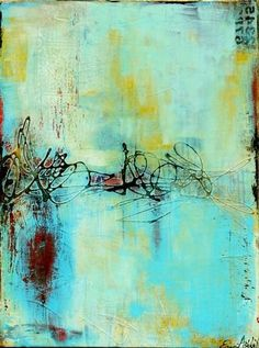 Gin House Blues by ERIN ASHLEY www.erinashleyart... #abstract #painting