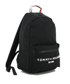 Sportrucksack Tommy Hilfiger Establishd Backpack Black recycled Nylons, Tommy Hilfiger, Laptop Rucksack, Backpacker, Sport, Black Backpack, Recycling, Bags, Fashion
