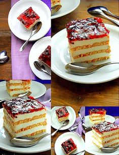 Απλό και νόστιμο!!! Απλά τέλειο!!!  Υλικά 2 πακέτα πτι μπερ για την κρέμα 500 γρ. KRE-TORRE(φυτική σαντιγί) 1 κιλό γιαούρτι στραγγιστό 1 1... Greek Sweets, Greek Desserts, Greek Recipes, Cookbook Recipes, Dessert Recipes, Cooking Recipes, Fridge Cake, Icebox Cake, Cake Servings