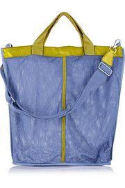 Finds+ I B&B leather-trimmed mesh shoulder bag