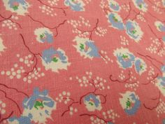 1930s Speckled Powder Puff Print Cotton Fabric  // Over 4 Yards