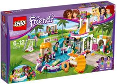Model building kits compatible with lego city girls friends Heartlake Summer Pool blocks Educational model building toys Model Building Kits, Lego Building, Legos, Lego Ville, Lego Friends Sets, Friends 2017, Friends Girls, Lego Clones, Diving Board