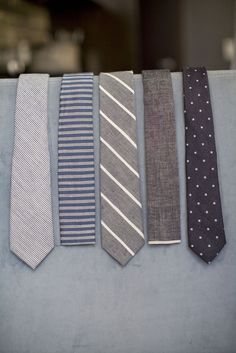 Understated ties.   Pick one.