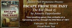 Virtual Tour  #Review  #Giveaway: Escape from the Past: The Kid #2 & The Duke's Wrath #1 by Annette Oppenlander @aoppenlander @GoddessFish    Escape from the Past: The Kid  by Annette Oppenlander  GENRE: YA historical/sci-fi  BLURB:  Time-traveling gamer Max embarks on a harrowing journey through the Wild West of 1881! After a huge fight with his parents Max tries to return to his love and his best friend Bero in medieval Germany. Instead he lands in 1881 New Mexico. Struggling to get his…