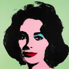 Andy Warhol's Liz #3 (Early Colored Liz),1963. Sotheby's.