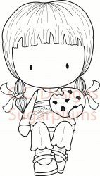 C.C. Designs Sugarplums Cookie Emma Rubber Stamp