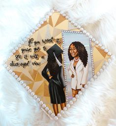 🎀Perhaps this is the moment for which you have been created💅🏽👑 for 💖 It's been a while since I made one of my ribbon… Funny Graduation Caps, College Graduation Pictures, Graduation Cap Toppers, Graduation Cap Designs, Graduation Cap Decoration, Graduation Diy, Grad Pics, Grad Cap, Graduation Photoshoot