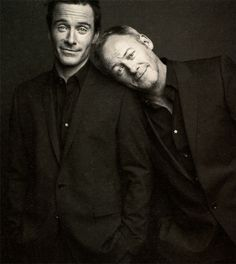 Two talented and handsome Irish blokes, Michael Fassbender and Liam Cunningham