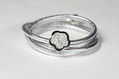 Silver Wrap bracelet by ClassyLeather on Etsy, $34.00