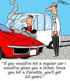 Saturday Morning Corvette Comic: It's Good to be the Boss
