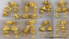 Latest light weight gold Earrings designs Handmade Indian Gold Jewellery Manufacturers Wholesaler & Direct Exporters in Kolkata-India . Light Weight Gold Jewellery, Gold Jewelry Simple, 18k Gold Jewelry, Silver Jewellery Indian, Resin Jewellery, Jewellery Earrings, Fashion Jewellery, Leather Jewelry, Jhumka Designs
