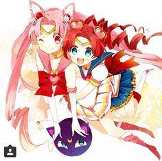 Sailor Chibi Moon and Sailor Chibi Chibi Moon