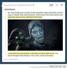 How to scare a Whovian....