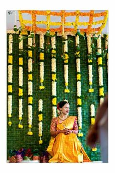 Wedding Flowers Sunflowers Rustic 48 Ideas For 2019 – Modern Desi Wedding Decor, Wedding Stage Decorations, Wedding Ceremony Backdrop, Haldi Ceremony, Wedding Ideas, Flower Decorations, Backdrop Decorations, Festival Decorations, Garland Ideas