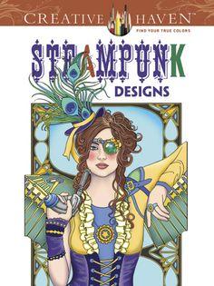 Steampunk design coloring book