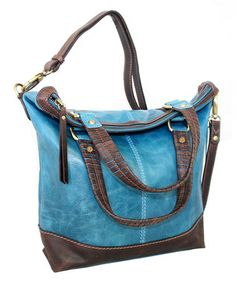 Look what I found on #zulily! Denim Blue Convertible Carry All Bag by Nino Bossi Handbags #zulilyfinds