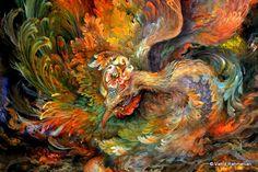 A miniature of Phoenix created by Mahmoud Farshchian. The Last Breath of Phoenix (1999)