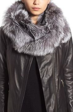 Linda Richards Cashmere & Genuine Fox Fur Infinity Wrap available at #Nordstrom