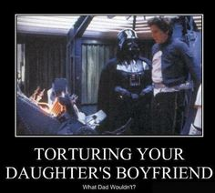 Yup! Anakin Skywalker/Darth Vader is the ultimate member of DADD (Dads Against Daughters Dating).