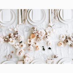 "Karen Mordechai on Instagram: ""Scenes from yesterday's lunch | thank you to our collaborators | flowers, @foxfodderfarm | linens, @roughlinen | menu design @kaelarawson"""