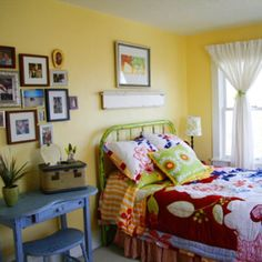 colors and iron bed, oh my! Paint Megan's bed this color?