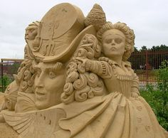"""Alice in Wonderland"" Movie Version   Sand Sculpture Art"