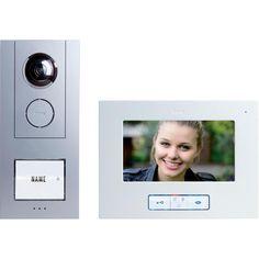 Video-Türsprechanlage Kabelgebunden Komplett-Set m-e modern-electronics Vistus VD 6710 1 Familienhaus Silber, Weiß im Conrad Online Shop | 515983