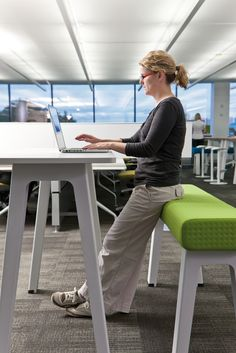 Lounge furniture that supports individual or collective working.