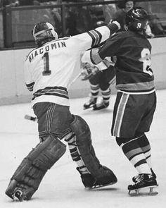 I met him at the start of his final season as a player. Rangers Hockey, Hockey Goalie, Ice Hockey, Goalie Mask, Good Old Times, Washington Capitals, National Hockey League, New York Rangers, Boston Bruins