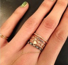 The perfect stack Jewelry Box, Jewelry Accessories, Women Jewelry, Fashion Jewelry, Jewelry Ideas, Gold Jewelry, Fine Jewelry, Oil And Gas, Stacking Rings