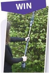 Win one of three cordless hedge trimmers. Hedges, Outdoor Power Equipment, Giveaway, Competition, Magazine, Products, Living Fence, Magazines, Shrubs