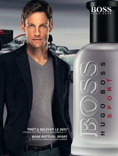 Boss Bottle Sport de Hugo Boss  Estrella de la Fórmula 1 Jenson Button