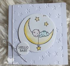 Trendy baby cards hand made stampin up layout 67 Ideas Wedding Shower Cards, Baby Shower Cards, Scrapbooking, Scrapbook Cards, Hand Made Greeting Cards, Baby Wedding, New Baby Cards, Baby Kind, Kids Cards