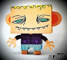 Monday Morning Monster Paper Toy - by Karl & Ida Studio - == -  A funny (or a little creepy) paper toy by Karl & Ida Studio website.