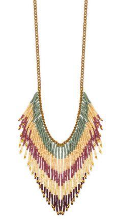 Tropical Fringe Necklace