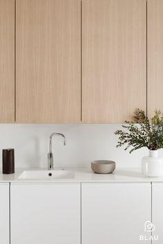 Kitchen Room Design, Interior Design Kitchen, Muji Bed, Kitchen Furniture, Furniture Design, Helsinki, Living Room Lounge, Home Remodeling, Home Kitchens