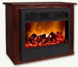 Real Flame Chateau Dark Walnut Corner Electric Indoor Fireplace
